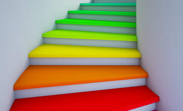 Illustration of multicolored staircase