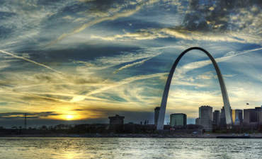 Detail of St. Louis skyline