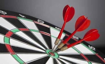 Target with three darts