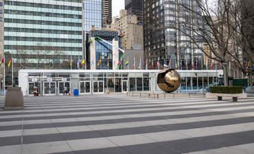 UN HQ, deserted during coronavirus pandemic
