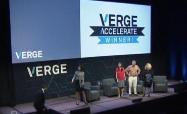 VERGE Accelerate winner announced onstage