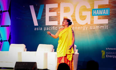 Oli blessing delivered onstage at VERGE Hawaii in Honolulu