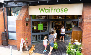 Supermarket retailer Waitrose in the English town of Ashbourne.