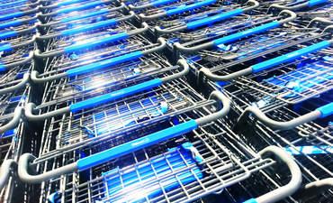 Walmart shopping carts