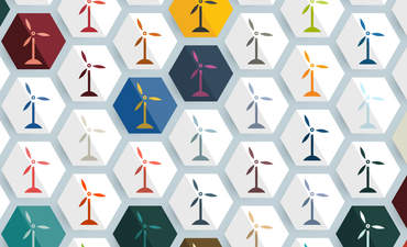 Wind turbines in honeycomb shapes