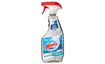"A bottle of ""non-toxic"" Windex with Vinegar"