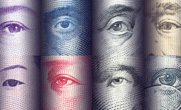 Bank notes from around the world