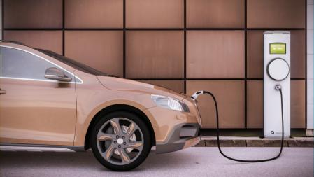 3D rendering of electric vehicle charging