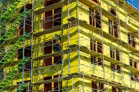 Multifamily housing under construction