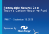 Renewable Natural Gas: Today's Carbon-Negative Fuel