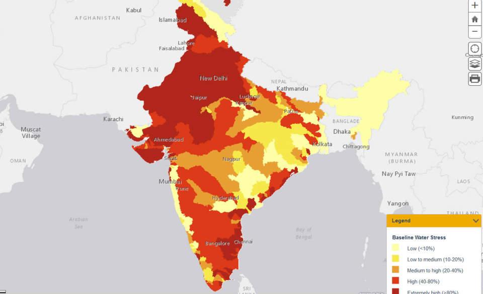 3 Maps Explain India S Growing Water Risks Greenbiz