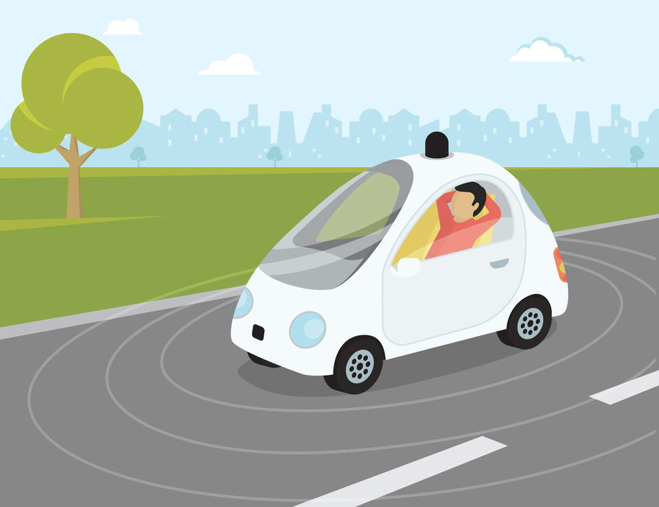 Tesla Self Driving Car Almost Crash