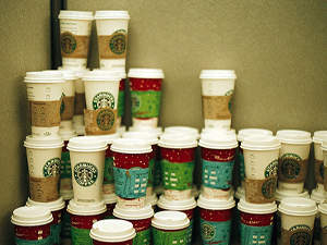 Starbucks Recycles Old Cups Into New Ones