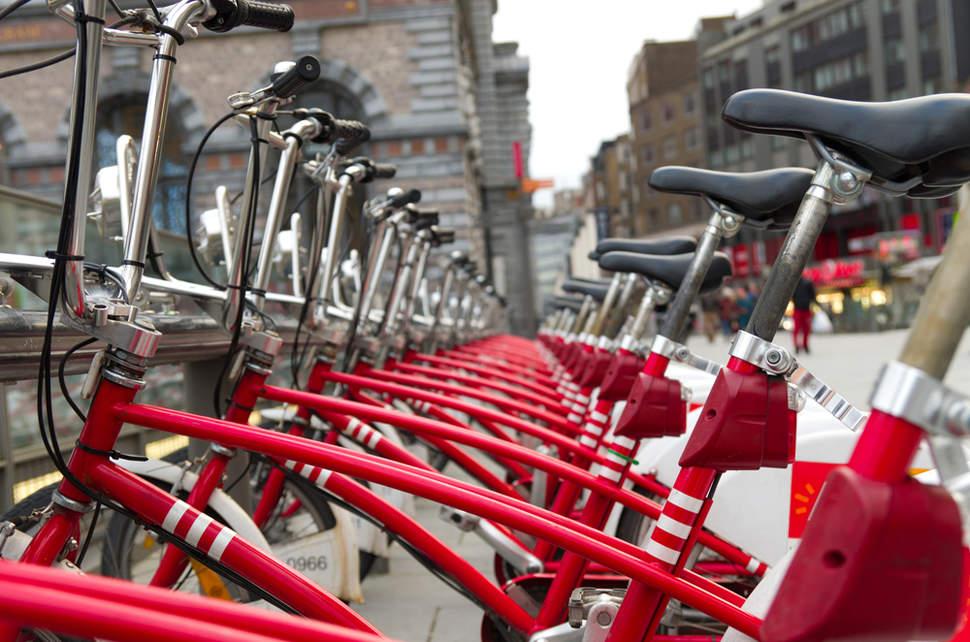 Velo bike-sharing station