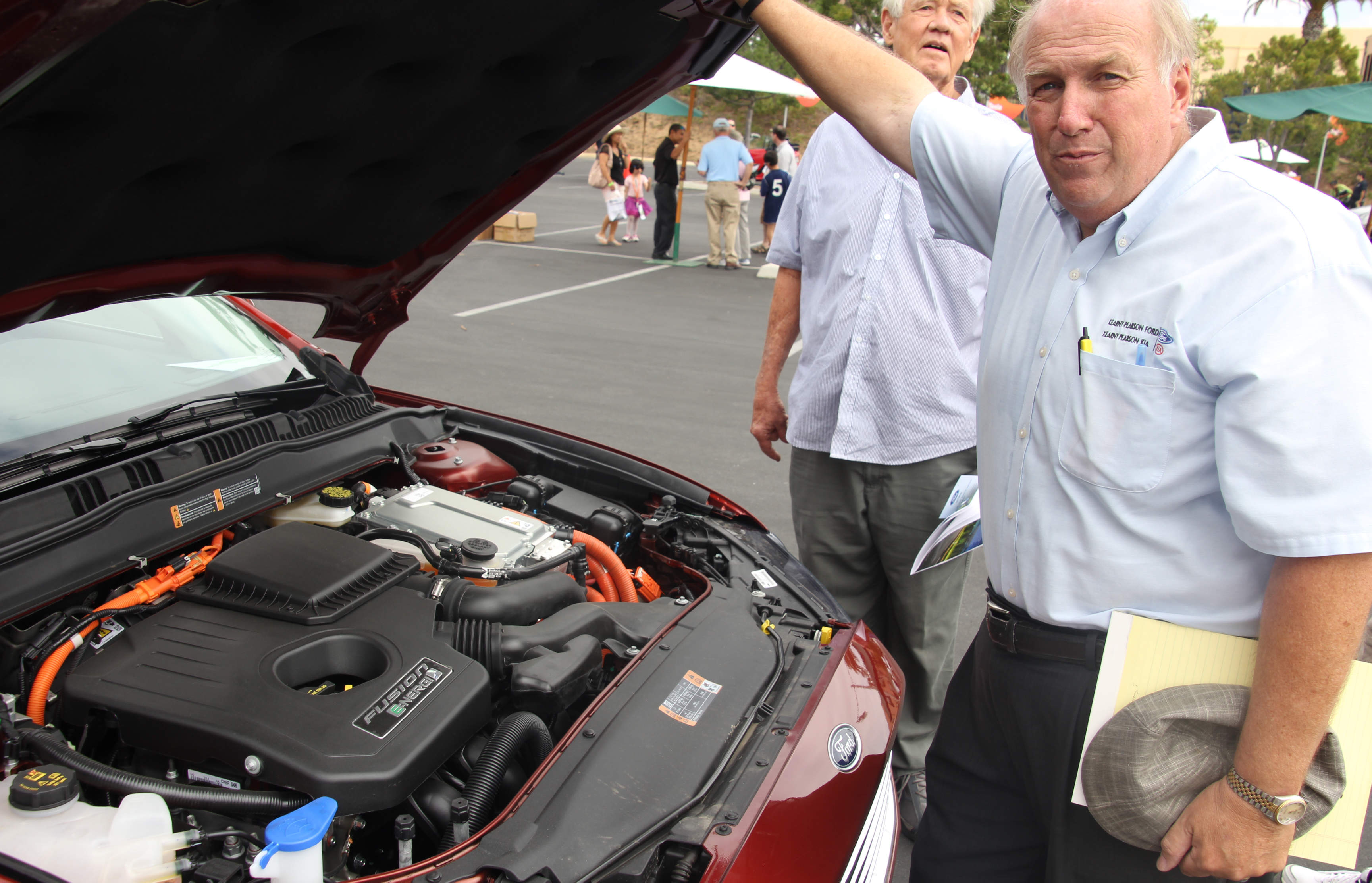 Bill Payne offers a peek under the hood of a Ford Fusion.