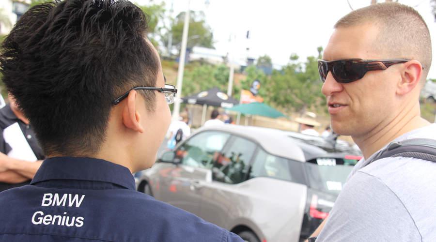 John Zayne and Luke Day discuss the virtues of the futuristic BMWi.