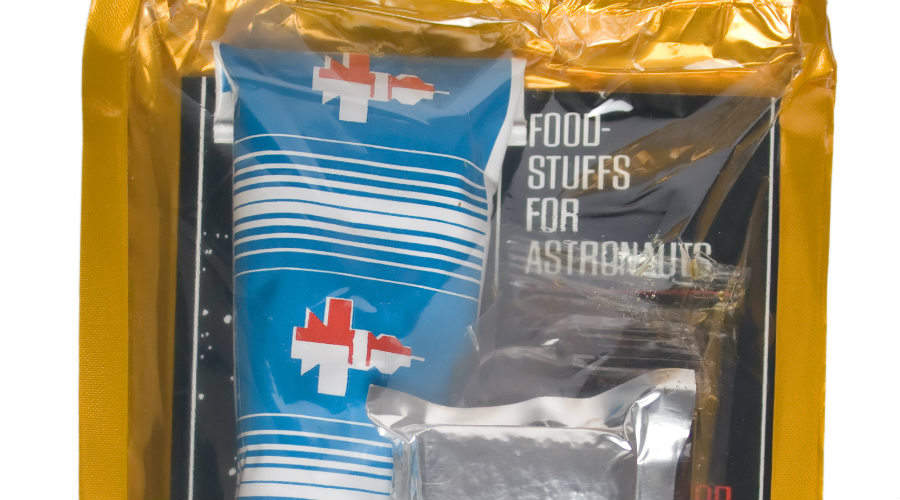 Packet of freeze-dried astronaut food