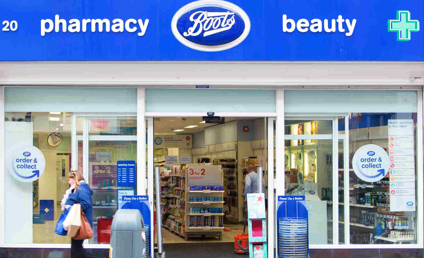 Boots storefront in London