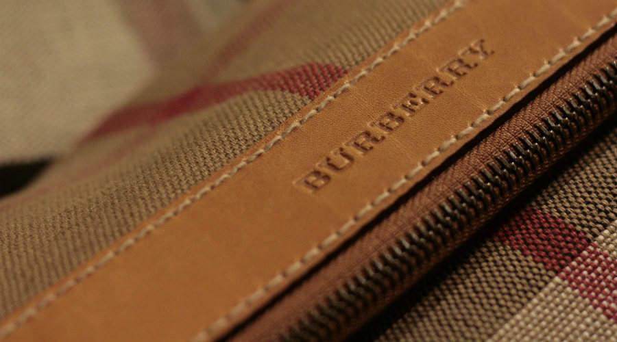 Closeup of Burberry label