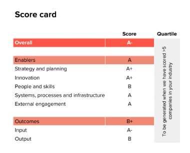Circulytics sample scorecard