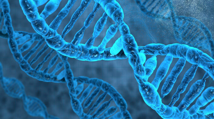 Image of DNA on cool blue background