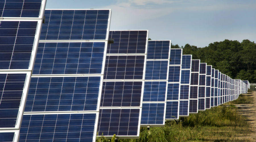 Solar panels at LISF