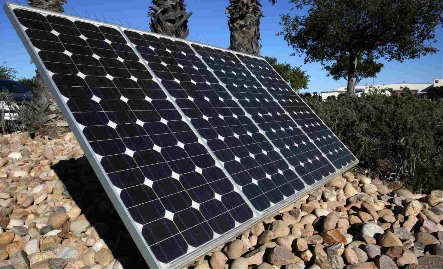 Solar panels at MCASM