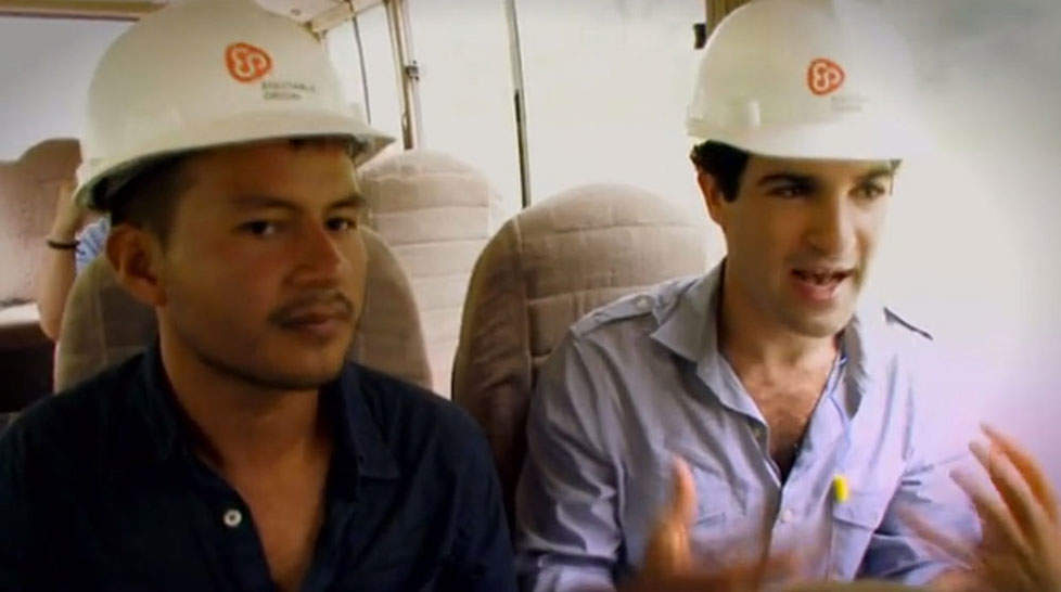 """David Poritz (right) and Hugo Lucitante, in a scene from the PBS documentary """"Oil & Water."""""""