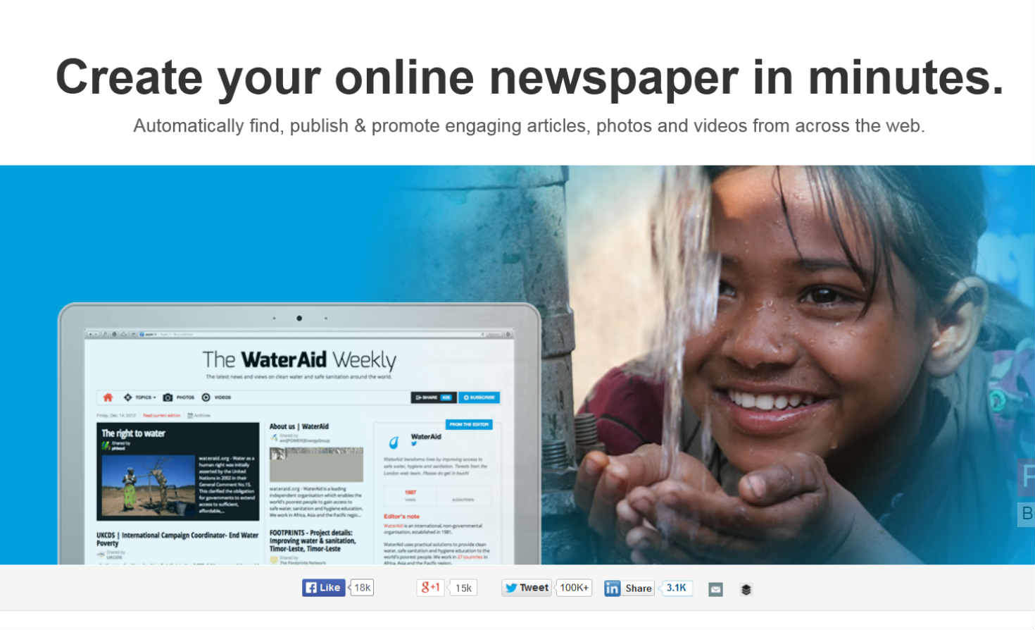 Screenshot of paper.li website