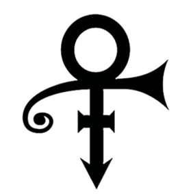 Symbol for the artist formerly known as Prince