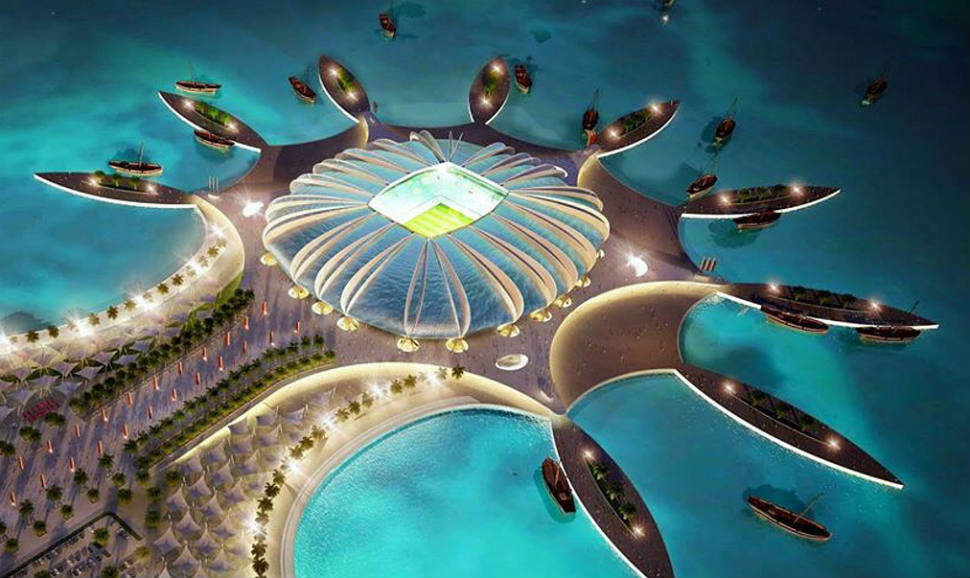 Artist's conception of Qatar 2022 FIFA World Cup Stadium