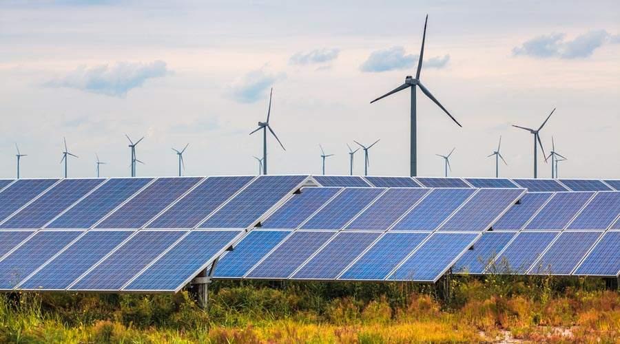 Solar and wind farms