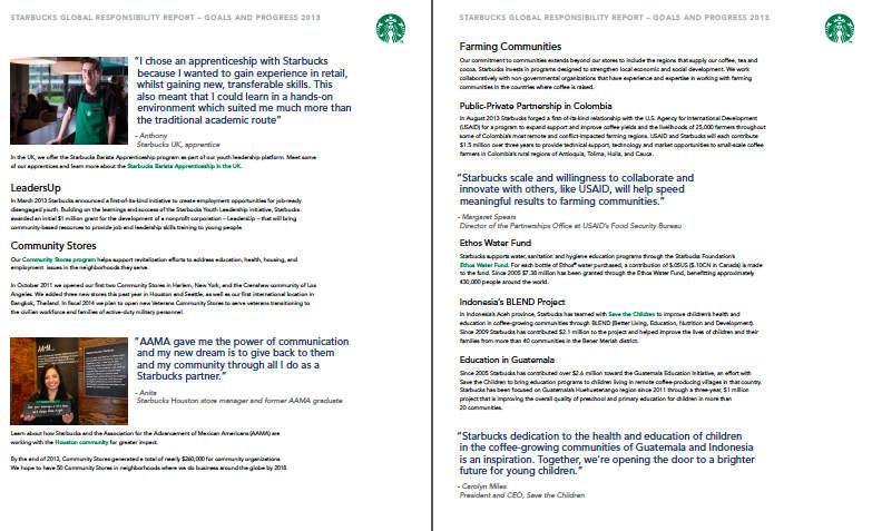 Starbucks CSR