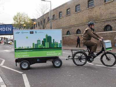 UPS Delivery Bike