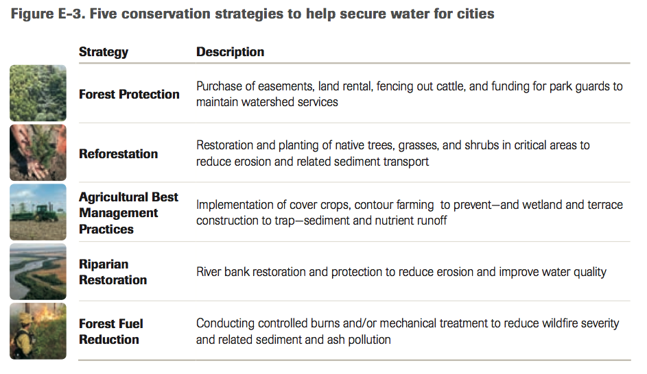 Nature Conservancy urban water conservation strategies
