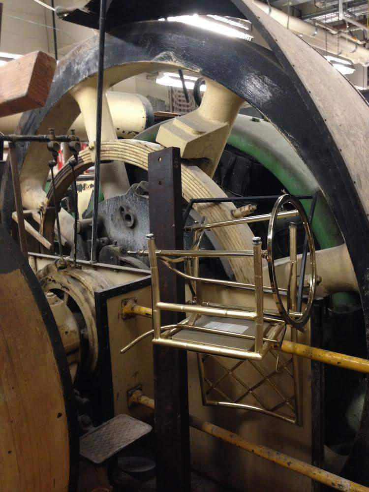 An old Westinghouse turbine in the Palace basement