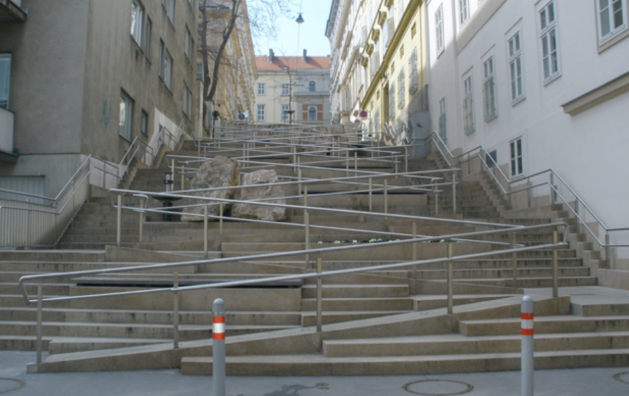 barrier-free staircase in Vienna