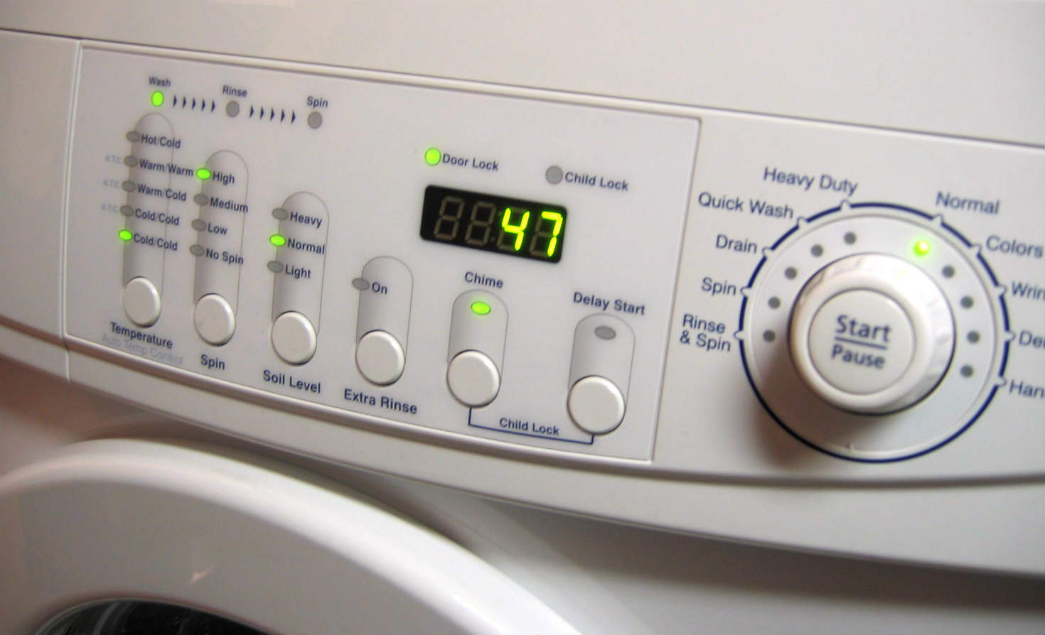 Front of clothes washer
