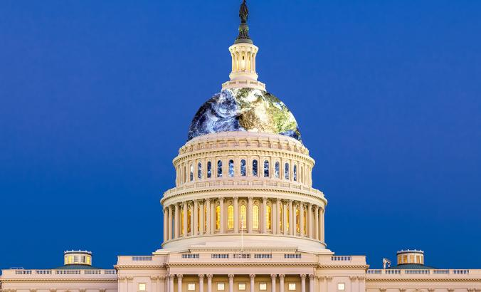Capitol with Earth Dome