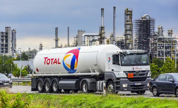 Total oil truck