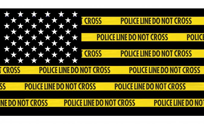American Flag Police Line