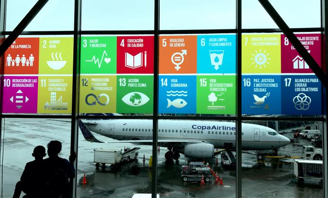 SDG imagery in an airport