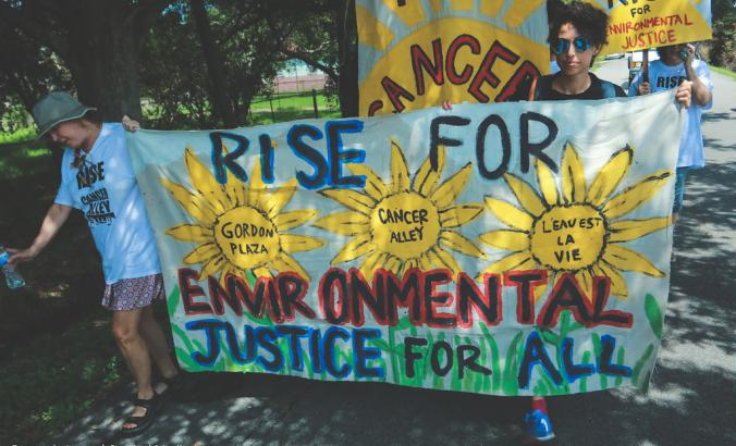 People march for environmental justice in St James, Louisiana