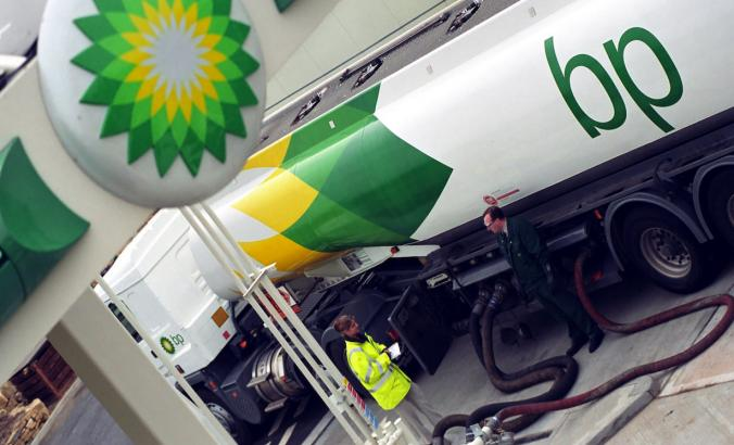 BP tanker refuel