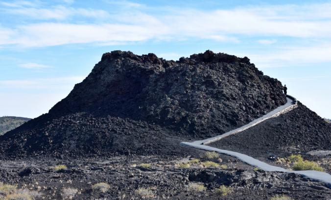 Craters of the Moon national monument in Idaho, a display of basaltic lava.