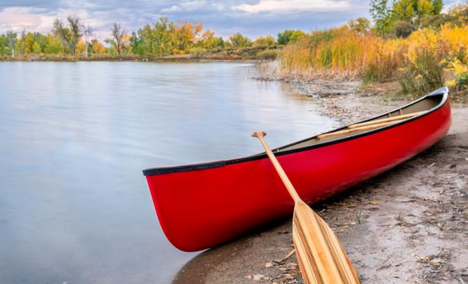 Canoe on Minnesota's boundary waters.