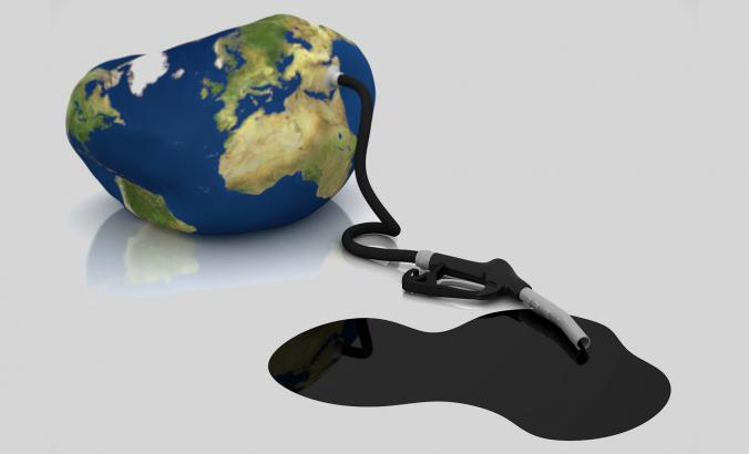 Oil deflating earth