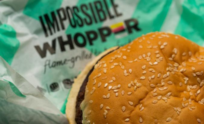 Impossible Whopper from Burger King, with the Impossible Foods veggie burger patty.