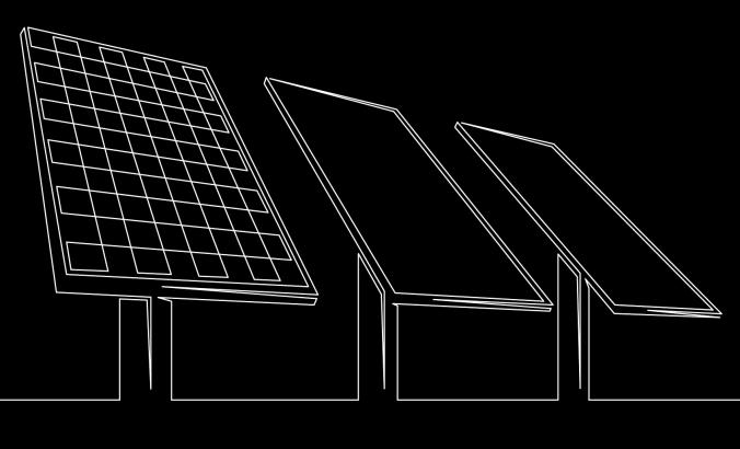 Illustration of solar panels.