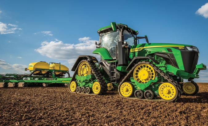 John Deere tractor and planter
